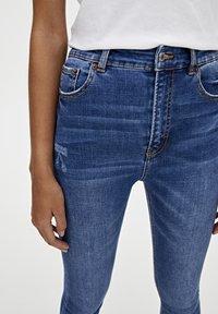 PULL&BEAR - BASIC-JEANS IM SKINNY-FIT MIT HOHEM BUND 09684315 - Jeans Skinny Fit - dark blue - 3