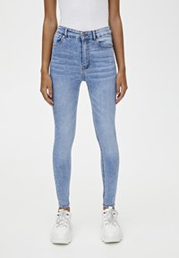 PULL&BEAR - BASIC-JEANS IM SKINNY-FIT MIT HOHEM BUND 09684315 - Jeans Skinny Fit - light blue - 0