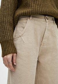 PULL&BEAR - Relaxed fit -farkut - light brown - 4