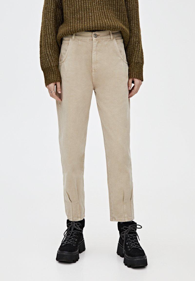 PULL&BEAR - Relaxed fit -farkut - light brown