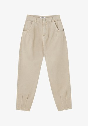 Relaxed fit jeans - light brown