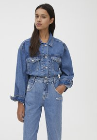 PULL&BEAR - SLOUCHY - Jeansy Straight Leg - blue - 3