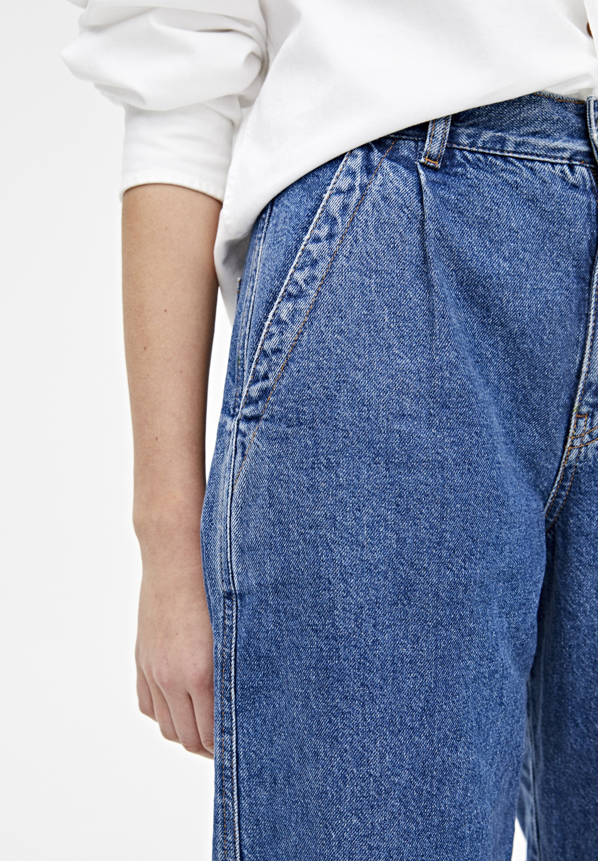 PULL&BEAR Jeansy Relaxed Fit - blue
