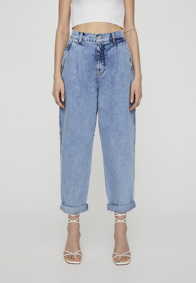 Jeans baggy - mottled light blue