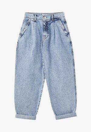 Relaxed fit jeans - mottled light blue