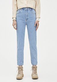 PULL&BEAR - MOM-JEANS MIT STRETCHBUND AUS BAUMWOLLE 09682351 - Jeans Tapered Fit - light blue - 1