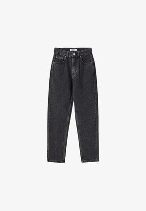 BASIC-MOM - Straight leg jeans - mottled dark grey
