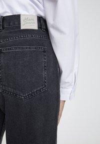 PULL&BEAR - Džíny Straight Fit - mottled dark grey - 1