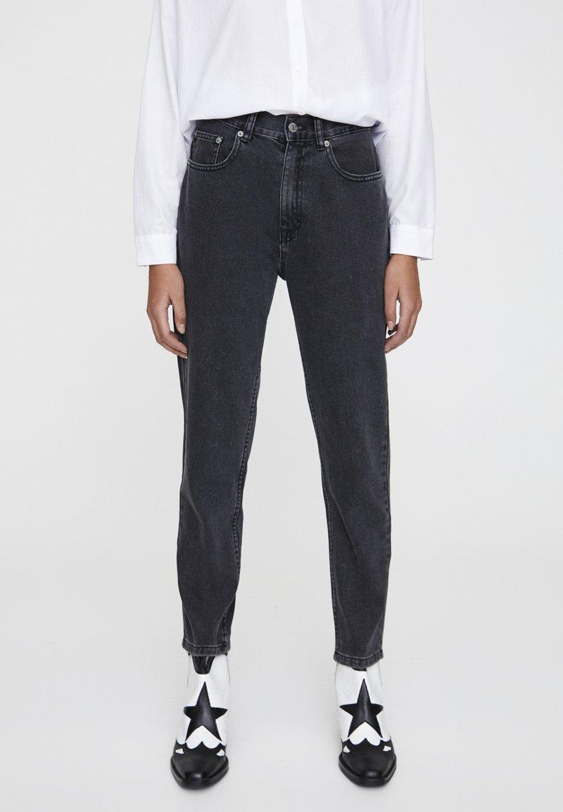 PULL&BEAR - Džíny Straight Fit - mottled dark grey