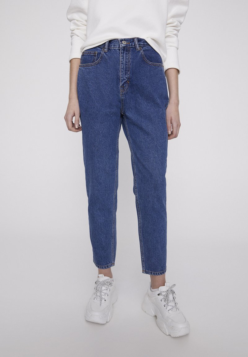 PULL&BEAR - BASIC-MOM - Jeans Straight Leg - blue