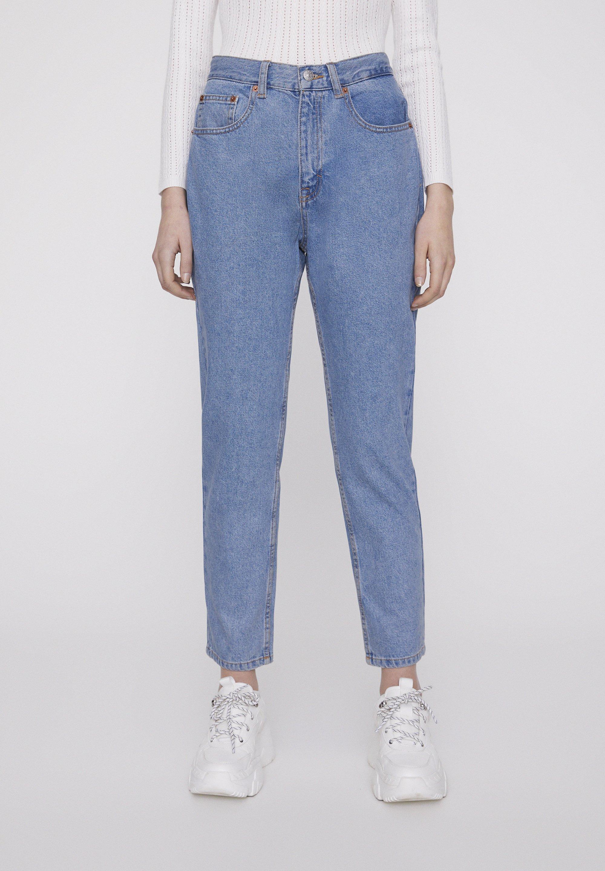 PULL&BEAR BASIC-MOM-JEANS 05682410 - Jeansy Straight Leg - blue denim