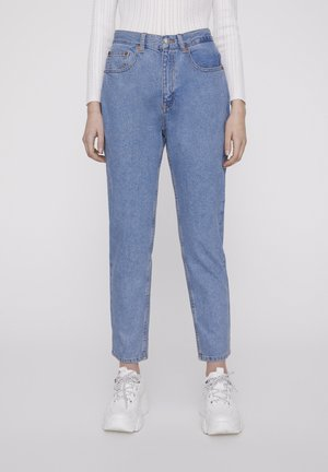 BASIC-MOM - Straight leg -farkut - blue denim