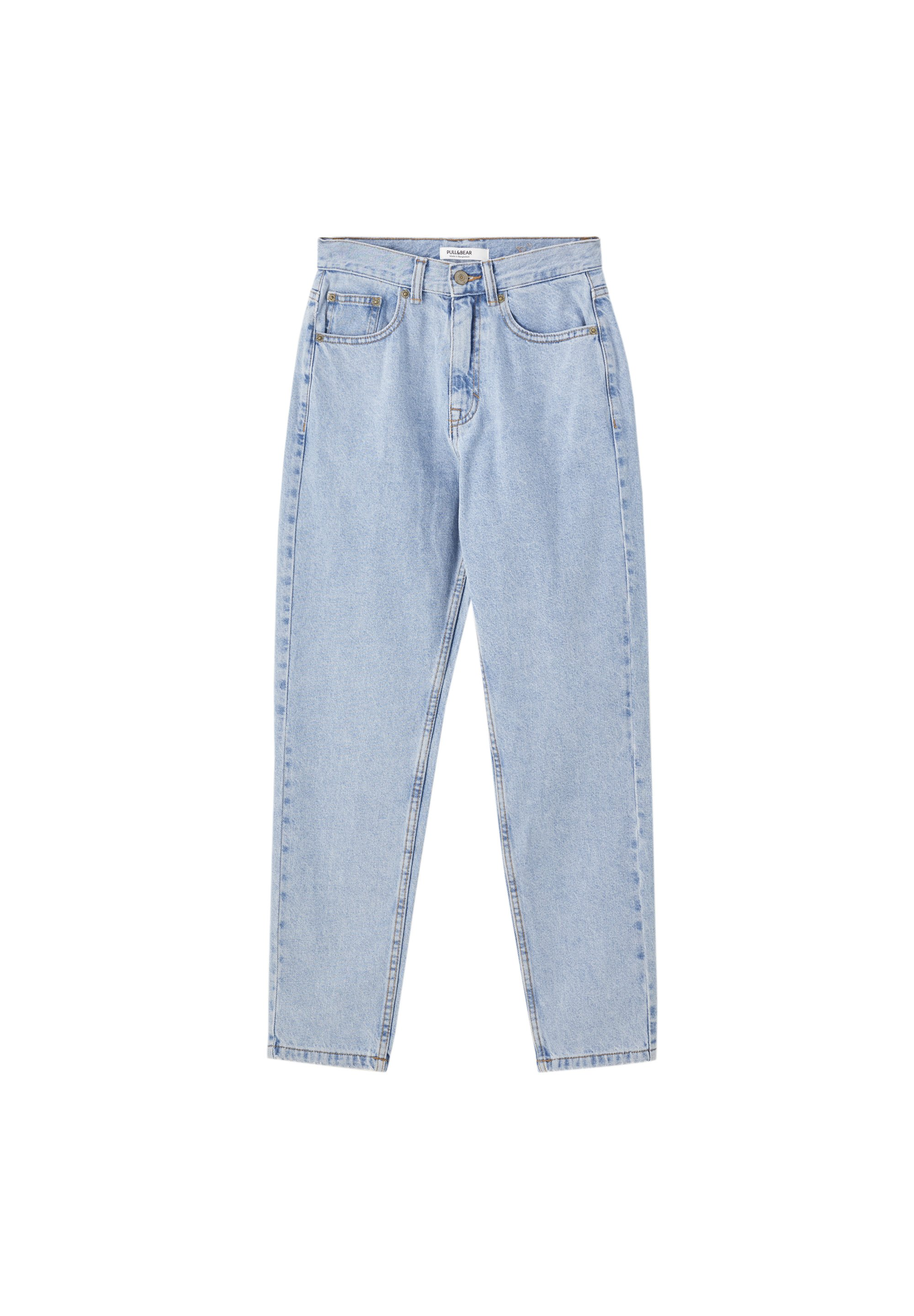 PULL&BEAR BASIC-MOM-JEANS 05682410 - Jeansy Straight Leg - light blue