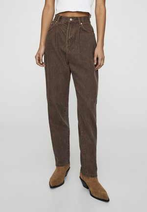 BASIC - Straight leg jeans - brown