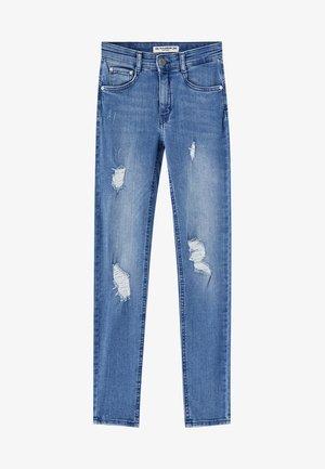 PUSH UP - Skinny džíny - mottled dark blue