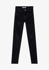 PULL&BEAR - PUSH UP - Skinny-Farkut - mottled black - 5