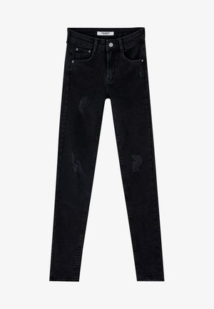 PUSH UP - Jeans Skinny - mottled black