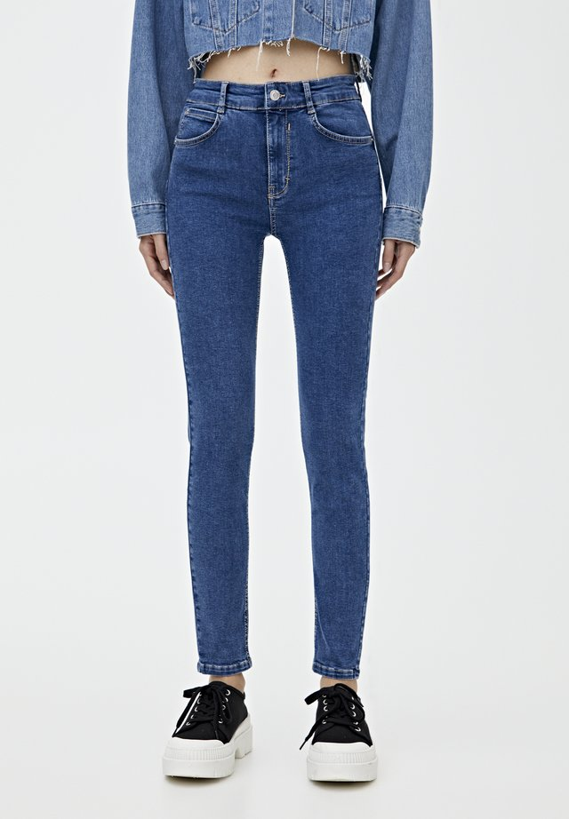 PUSH UP - Jeans Skinny Fit - light-blue denim