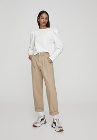 PULL&BEAR - IM SLOUCHY-FIT - Džíny Straight Fit - brown - 1
