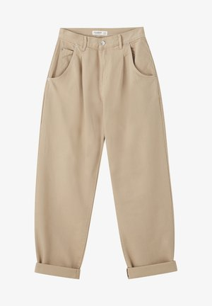 IM SLOUCHY-FIT - Straight leg jeans - brown