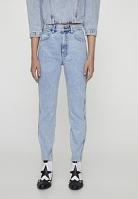 PULL&BEAR - Jeansy Slim Fit - blue-black denim - 0