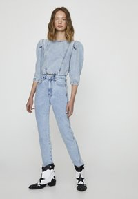 PULL&BEAR - Jeansy Slim Fit - blue-black denim