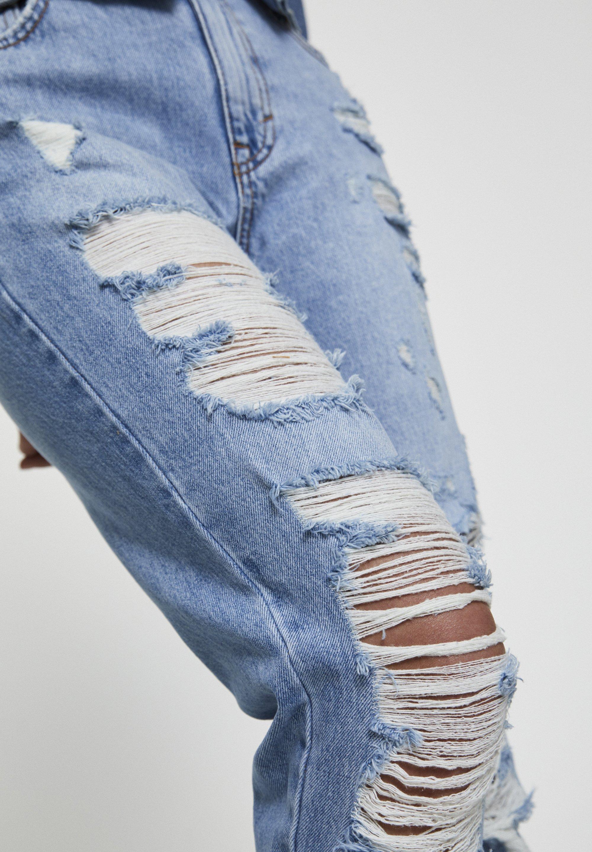 PULL&BEAR MIT RISSEN AN DEN BEINEN  - Jeansy Slim Fit - light-blue denim
