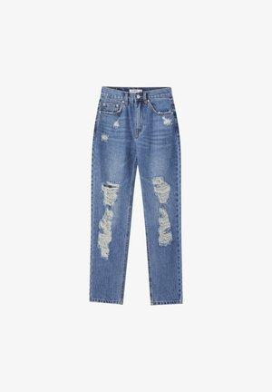 MIT RISSEN AN DEN BEINEN  - Jeans Slim Fit - blue denim