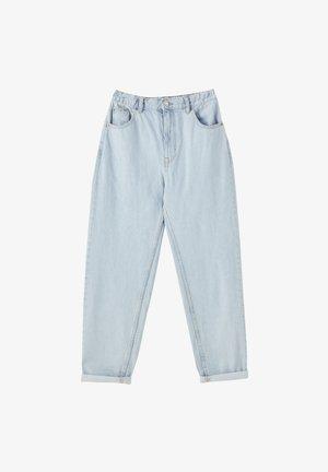 MOM WITH ELASTIC WAISTBAND - Straight leg jeans - light blue