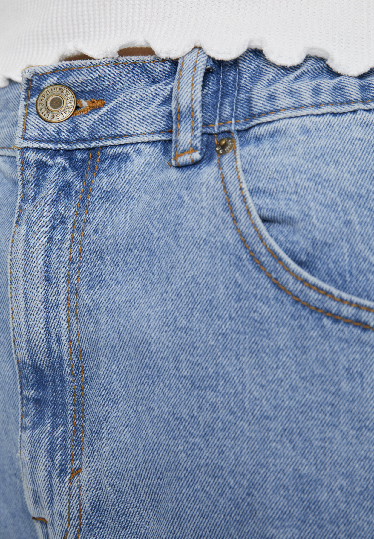 PULL&BEAR MOM WITH ELASTIC WAISTBAND - Jeansy Straight Leg - blue denim