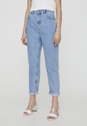 MOM WITH ELASTIC WAISTBAND - Straight leg jeans - blue denim