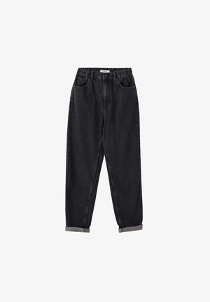 MOM WITH ELASTIC WAISTBAND - Jeans Straight Leg - black