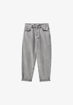 MIT SEHR HOHEM BUND - Džíny Straight Fit - dark grey