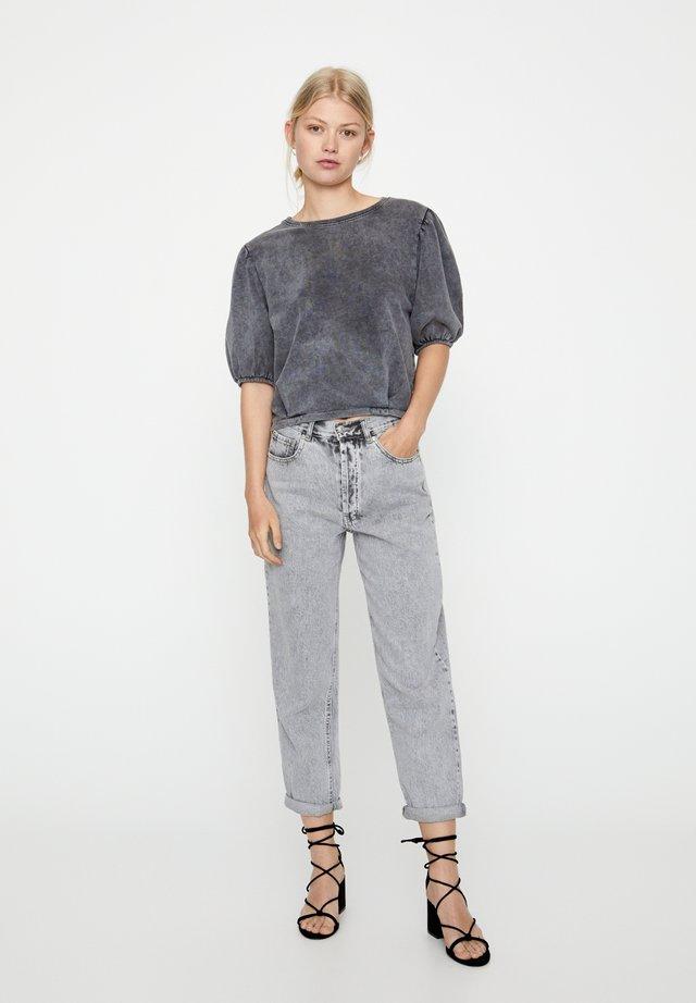 MIT SEHR HOHEM BUND - Straight leg -farkut - dark grey