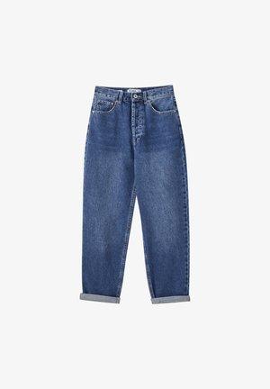 MIT SEHR HOHEM BUND - Džíny Straight Fit - blue