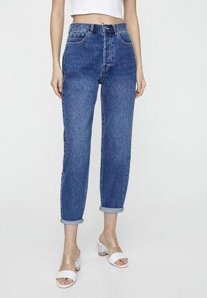 MIT SEHR HOHEM BUND - Straight leg jeans - blue