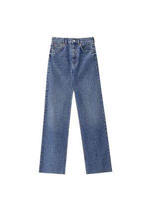 MIT HOHEM BUND - Jeans Straight Leg - blue