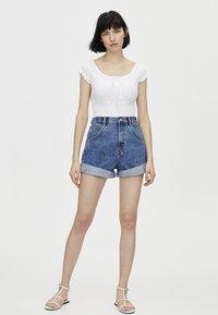 PULL&BEAR - Denim shorts - blue - 1