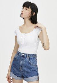 PULL&BEAR - Jeans Short / cowboy shorts - blue - 0