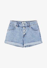 PULL&BEAR - MIT KNÖPFEN VORNE - Jeans Short / cowboy shorts - light blue - 5