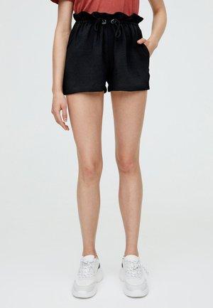MIT KORDELZUG - Shorts - black