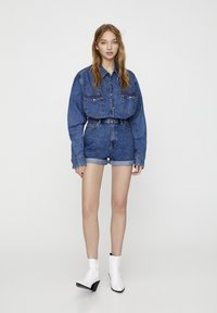 PULL&BEAR - Szorty jeansowe - blue - 1