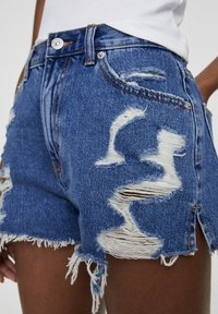 PULL&BEAR - Shorts di jeans - blue - 4