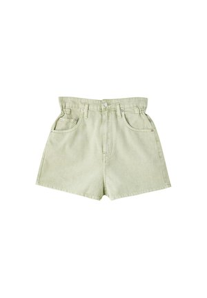 Jeansshort - light green