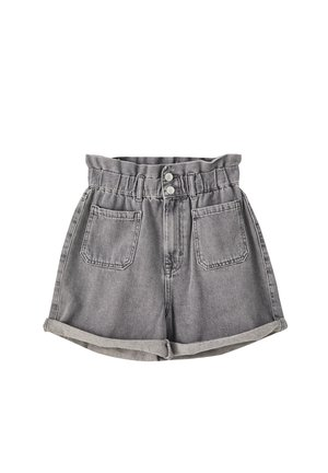 MIT STRETCHBUND - Jeans Shorts - light grey