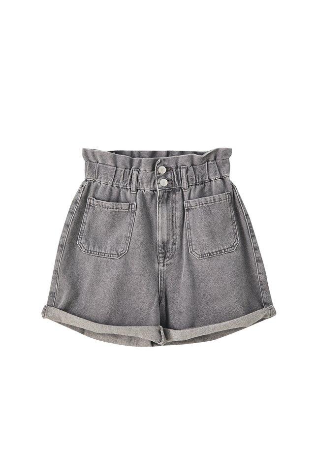 MIT STRETCHBUND - Denim shorts - light grey