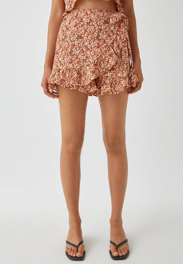 PRINT UND VOLANTS - Shorts - multi-coloured