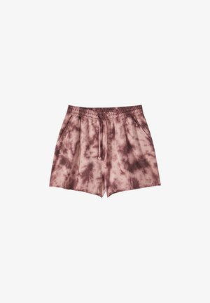 TIE-DYE-PRINT - Shorts - light red