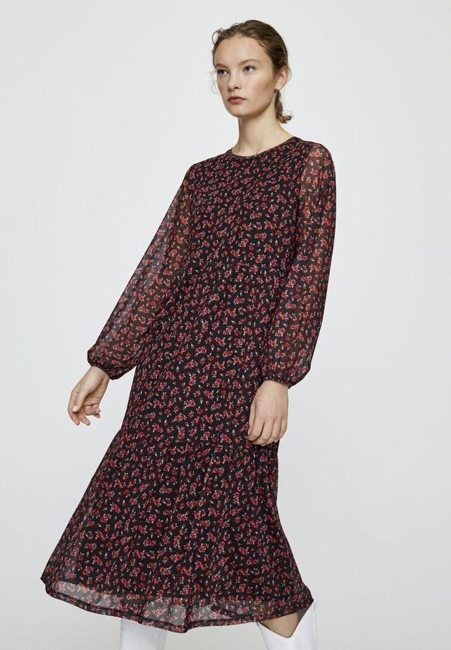 OVERALL MIT SEITLICHEN KNÖPFEN 05391402 - Korte jurk - red