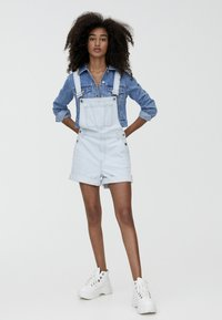 PULL&BEAR - Tuinbroek - light blue - 1
